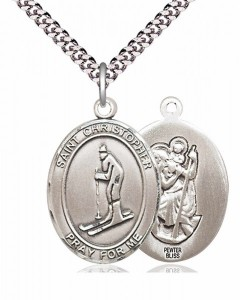 St. Christopher Skiing Medal [EN6324]