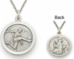 St. Christopher Soccer Sports Medal with Chain [SM0044]