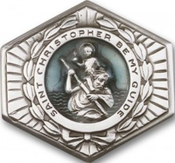 St. Christopher Hexagon Visor Clip [AUBVC007]