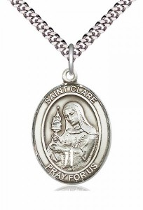 St. Clare of Assisi Medal [EN6064]