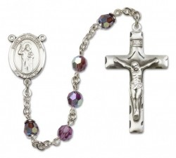 St. Columbkille Sterling Silver Heirloom Rosary Squared Crucifix [RBEN0164]