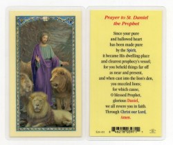 St. Daniel Laminated Prayer Cards 25 Pack [HPR431]