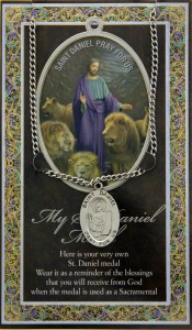 St. Daniel Medal in Pewter with Bi-Fold Prayer Card [HPM020]
