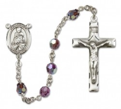 St. Daniel Sterling Silver Heirloom Rosary Squared Crucifix [RBEN0166]