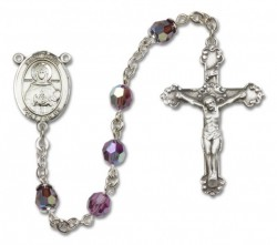 St. Daria  Sterling Silver Heirloom Rosary Fancy Crucifix [RBEN1168]