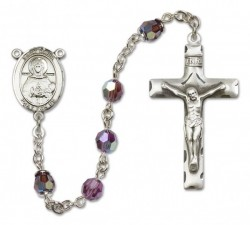 St. Daria  Sterling Silver Heirloom Rosary Squared Crucifix [RBEN0168]