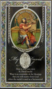 St. David Medal in Pewter with Bi-Fold Prayer Card [HPM021]