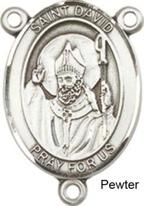St. David of Wales Rosary Centerpiece Sterling Silver or Pewter [BLCR0197]