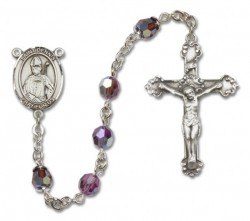 St. Dennis Sterling Silver Heirloom Rosary Fancy Crucifix [RBEN1171]