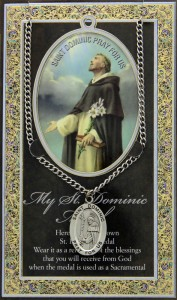St. Dominic Medal in Pewter with Bi-Fold Prayer Card [HPM018]