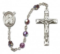 St. Dorothy Sterling Silver Heirloom Rosary Squared Crucifix [RBEN0174]