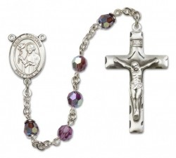 St. Dunstan Sterling Silver Heirloom Rosary Squared Crucifix [RBEN0176]