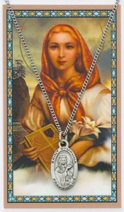 St. Dymphna Medal with Prayer Card [PC0106]
