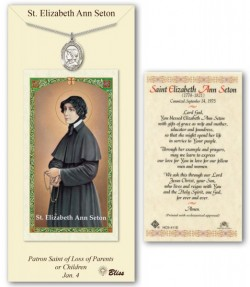 St. Elizabeth Ann Seton Medal in Pewter with Prayer Card [BLPCP056]