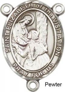 St. Elizabeth of the Visitation Rosary Centerpiece Sterling Silver or Pewter [BLCR0409]