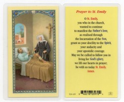 St. Emily Laminated Prayer Cards 25 Pack [HPR435]