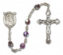 St. Felicity Sterling Silver Heirloom Rosary Fancy Crucifix [RBEN1191]
