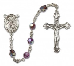 St. Fiacre Sterling Silver Heirloom Rosary Fancy Crucifix [RBEN1192]