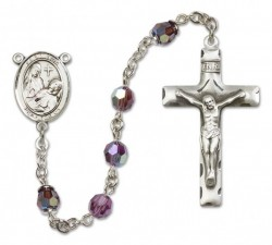 St. Fina Sterling Silver Heirloom Rosary Squared Crucifix [RBEN0193]