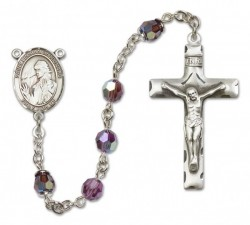 St. Finnian of Clonard Sterling Silver Heirloom Rosary Squared Crucifix [RBEN0194]
