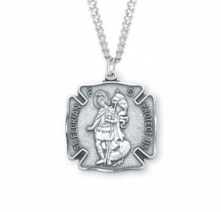 St. Florian Medal Sterling Silver, 2 Sizes Available [REM2046]