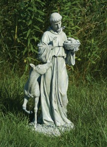 St. Francis Garden Statue With Horse   25.5u0026quot; ...