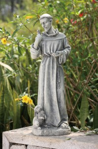 "St. Francis Garden Statue with Rabbit - 24"" [GAR1034]"