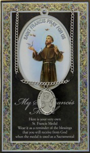 St. Francis Medal in Pewter with Bi-fold Prayer Card [HPM004]