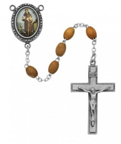 St. Francis of Assisi Olive Wood Rosary [MVER011]