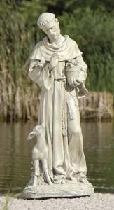 St. Francis Outdoor Garden Statue 18u0026quot; ...