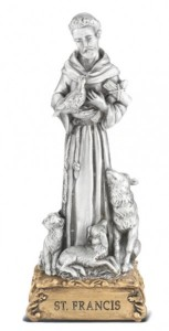 Saint Francis Pewter Statue 4 Inch [HRST310]