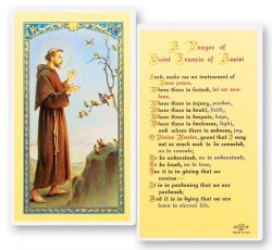 St. Francis Prayer For Peace Laminated Prayer Cards 25 Pack [HPR311]