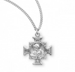 St. Francis and St. Anthony Medal Sterling Silver [REM2049]