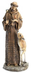St. Francis Statue with Animals 12 inches [SA3183]