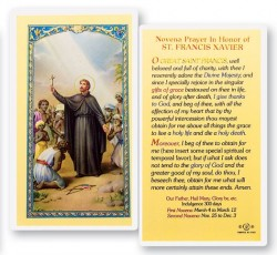 St. Francis Xavier Novena Laminated Prayer Cards 25 Pack [HPR444]