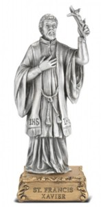 Saint Francis Xavier Pewter Statue 4 Inch [HRST444]
