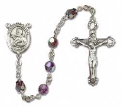 St. Francis Xavier Sterling Silver Heirloom Rosary Fancy Crucifix [RBEN1200]