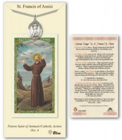 St. Francis of Assisi Medal in Pewter with Prayer Card [BLPCP012]