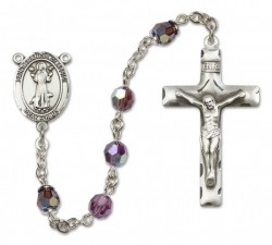 St. Francis of Assisi Sterling Silver Heirloom Rosary Squared Crucifix [RBEN0199]