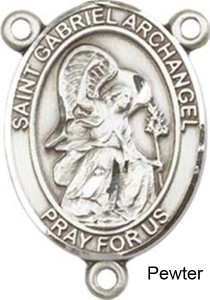 St. Gabriel the Archangel Rosary Centerpiece Sterling Silver or Pewter [BLCR0209]