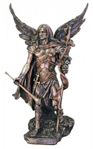 St. Gabriel the Archangel Statue, 13 3/4 Inches [GSS013]