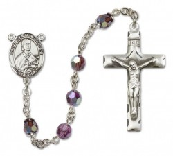 St. Gemma Galgani Sterling Silver Heirloom Rosary Squared Crucifix [RBEN0203]