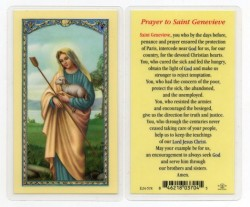 St. Genevieve Laminated Prayer Cards 25 Pack [HPR578]