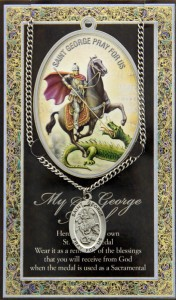 St. George Medal in Pewter with Bi-Fold Prayer Card [HPM027]