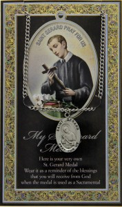 St. Gerard Majella Medal in Pewter with Bi-Fold Prayer Card [HPM058]