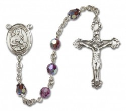 St. Gerard Majella Sterling Silver Heirloom Rosary Fancy Crucifix [RBEN1208]