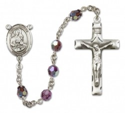 St. Gerard Majella Sterling Silver Heirloom Rosary Squared Crucifix [RBEN0208]
