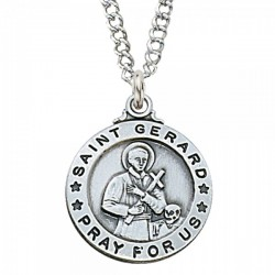 View all saint gerard necklace saint gerard medal with necklace st gerard medal enmc023 aloadofball Image collections