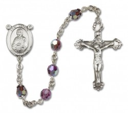 St. Gerard Sterling Silver Heirloom Rosary Fancy Crucifix [RBEN1207]