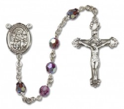 St. Germaine Cousin Sterling Silver Heirloom Rosary Fancy Crucifix [RBEN1209]